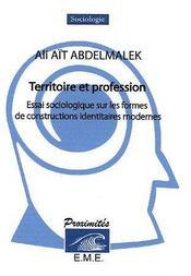 Territoire et profession ; essai sociologique sur les formes de constructions identitaires modernes - Couverture - Format classique