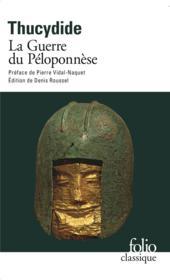 La guerre du Péloponnèse - Couverture - Format classique
