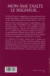 Conférences de Carême de Lyon 2011 - 4ème de couverture - Format classique