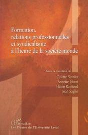 Formation Relations Professionnelles Et Syndicalisme A - Intérieur - Format classique
