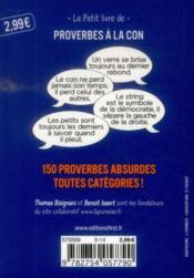 Proverbes à la con - 4ème de couverture - Format classique