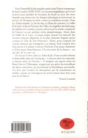 Jack London ; épisodes de la lutte quotidienne t.6 - 4ème de couverture - Format classique