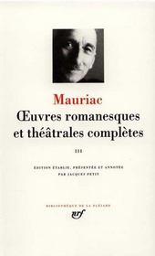 Oeuvres romanesques et théâtrales complètes t.3 - Intérieur - Format classique