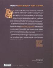Picasso : peintre d'objets / objets de peintre - 4ème de couverture - Format classique
