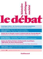 Revue Le Débat N.203 - Couverture - Format classique