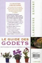Le Guide Des Godets - 4ème de couverture - Format classique