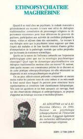 Ethnopsychiatrie Maghrebine - 4ème de couverture - Format classique