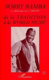 De la tradition à la world music - Couverture - Format classique
