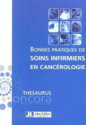 Bonnes Pratiques De Soins Infirmiers En Cancerologie - Intérieur - Format classique