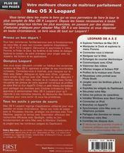 Livre de Mac os x 10.5 leopard - 4ème de couverture - Format classique