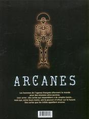 Arcanes t.3 ; le dossier Karadine - 4ème de couverture - Format classique