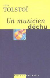 Un musicien déchu - Couverture - Format classique