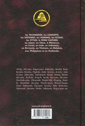 Encyclopedie Des Arts Martiaux D'Extreme Orient ; Technique Historique Biographie Et Culturelle - 4ème de couverture - Format classique