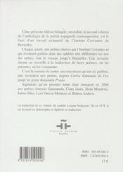Poésie espagnole contemporaine t.2 - 4ème de couverture - Format classique