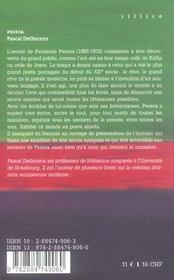 Pessoa L'Oeuvre Absolue - 4ème de couverture - Format classique