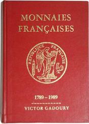 Monnaies françaises 1789-1989 ; spécial bicentennaire - Couverture - Format classique