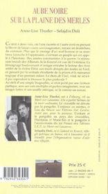 Aube Noire Sur La Plaine Des Merles - 4ème de couverture - Format classique