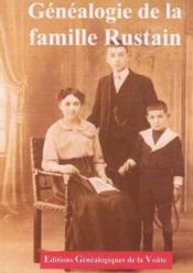 Genealogie de la famille rustain - Couverture - Format classique