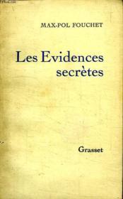 Les Evidences Secretes. - Couverture - Format classique