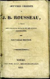 OEUVRES CHOISIES - A l'usage des Collèges royaux et des Ecoles secondaires. - Couverture - Format classique