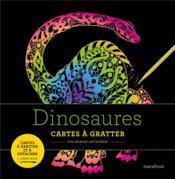 Livre à gratter ; dinosaures - Couverture - Format classique