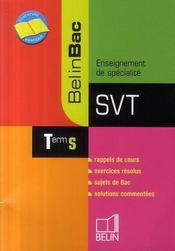 Svt ; enseignement de spécialité ; terminale s - Intérieur - Format classique