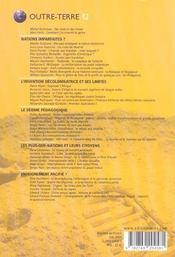 Outre-Terre T.12 ; Enseigner La Nation ; Géopolitique Des Manuels - 4ème de couverture - Format classique