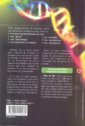 Dico de bio (2e édition) - 4ème de couverture - Format classique