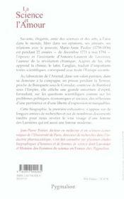 La science et l'amour, madame lavoisier - 4ème de couverture - Format classique