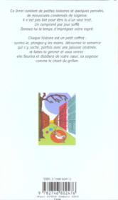 Le chant du grillon - graines de sagesse - 4ème de couverture - Format classique