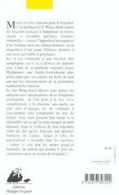 Maitre De Fengshui Perd Le Nord (Le) - 4ème de couverture - Format classique