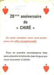 20° Anniversaire De Chire - Couverture - Format classique