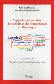 Approche comparative des savoirs et des compétences didactiques - Couverture - Format classique