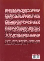 Aiguille du midi et vallee blanche - 4ème de couverture - Format classique