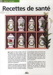 Petit Guide T.226 ; Recettes De Santé - Intérieur - Format classique