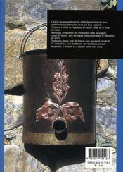 Peinture sur métal ; technique et réalisations - 4ème de couverture - Format classique