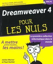 Dreamweaver 4 Pour Les Nuls - Intérieur - Format classique
