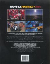 Toute la formule 1 2004 (édition 2004) - 4ème de couverture - Format classique