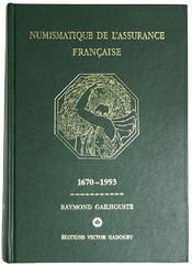 Numismatique de l'assurance française - Couverture - Format classique