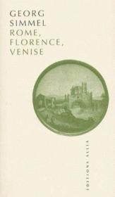 Rome, Florence, Venise - Couverture - Format classique