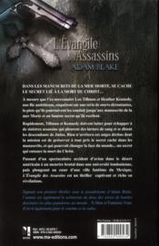 L'évangile des assassins - 4ème de couverture - Format classique