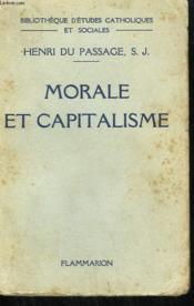 Morale Et Capitalisme. - Couverture - Format classique