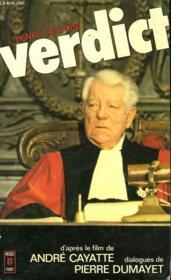 Verdict - Couverture - Format classique