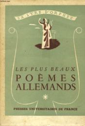 Les Plus Beaux Poemes Allemands - Couverture - Format classique