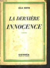 La Derniere Innocence. - Couverture - Format classique
