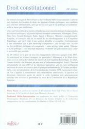 Droit Constitutionnel (26e Edition) - 4ème de couverture - Format classique