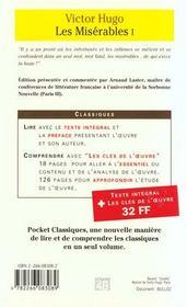 Les Misérables t.1 - 4ème de couverture - Format classique