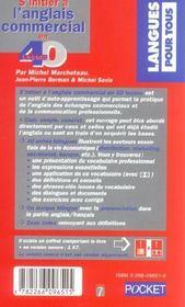 S'Initier A L'Anglais Commercial En 40 Lecons - 4ème de couverture - Format classique