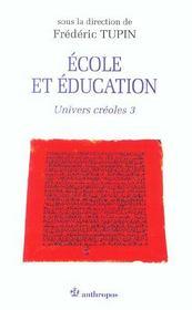 École et éducation ; univers créole t.3 - Intérieur - Format classique