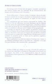 École et éducation ; univers créole t.3 - 4ème de couverture - Format classique